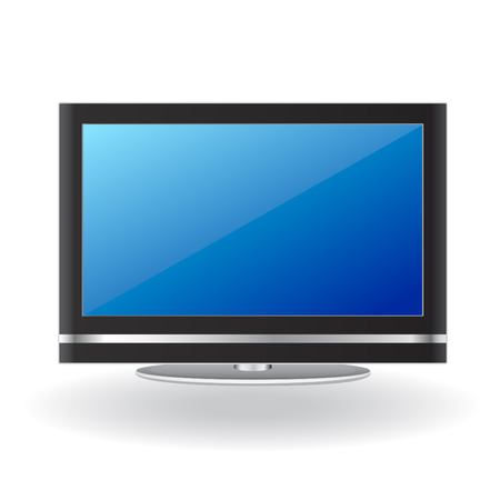 modern lcd tv  Vector