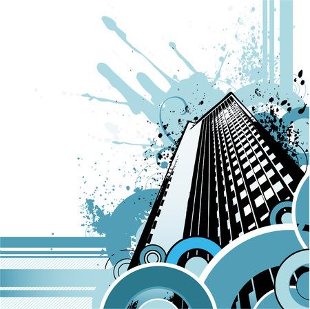 city abstract: retro city design  Illustration