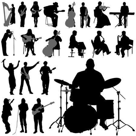 vocals: set of musician  Illustration