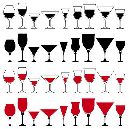 glass set Stock Vector - 8355803