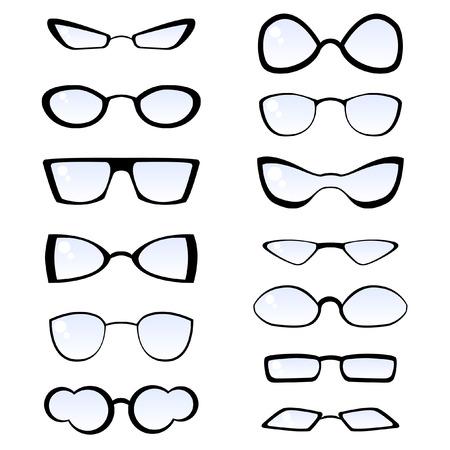 sun glass: gafas de moda  Vectores
