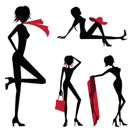 beauty women set  Vector