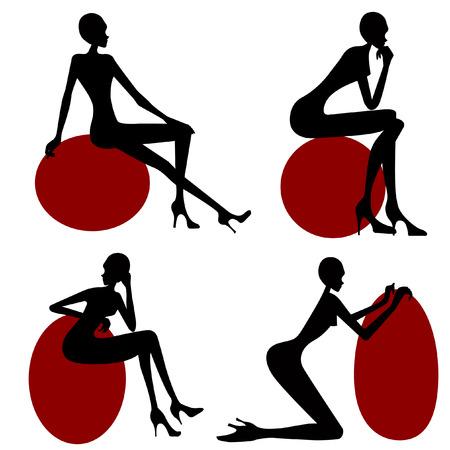 sexy skirt: model  women set