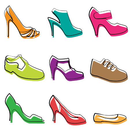 fashion shoes design  Vector
