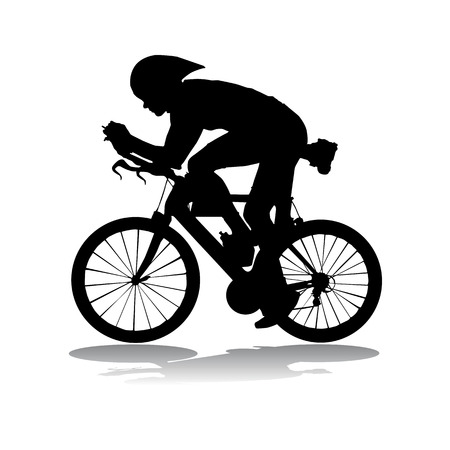 bicycle silhouette: bicycle race vector