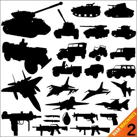 soldier with rifle: war machine vector Illustration