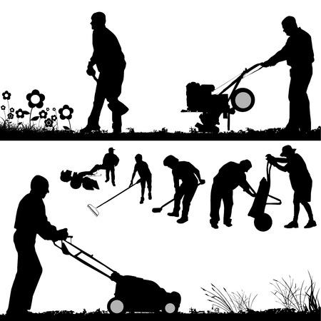 rakes: gardener vector