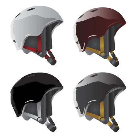 snow man: sport helmet vector