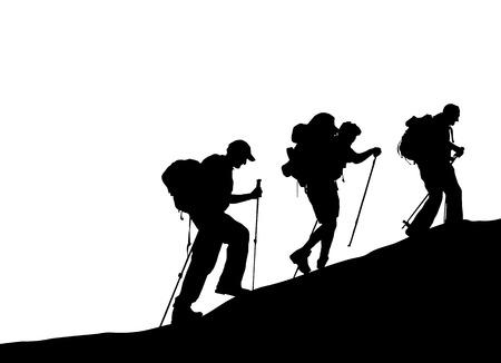 kletterer: Bergsteiger  Illustration