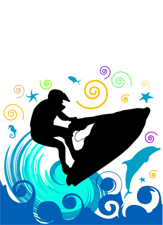 moto acuatica: vector de jet ski