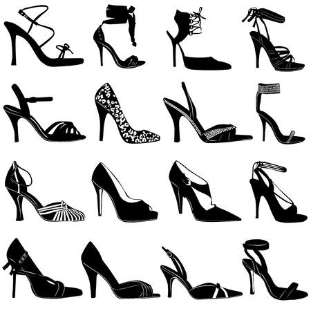 icono de zapatos de mujer  Ilustración de vector