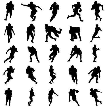 voetbal silhouet: American football set