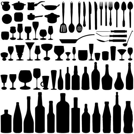 kitchen set vector  Vector