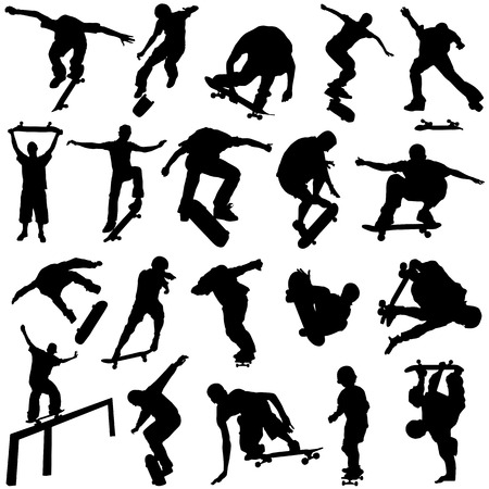 skateboarding set  Vector