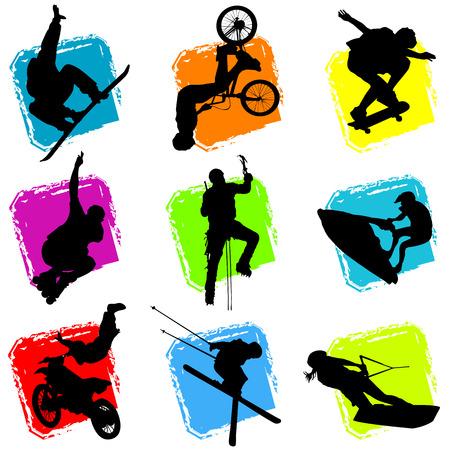 vector de deportes extremos
