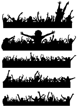 set of party peoples  Stock Vector - 8498187