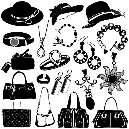 collection of women accessories vector  Vector