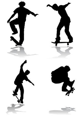 skateboarding Stock Vector - 8497781