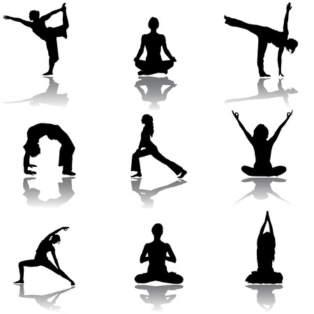 jogging track: yoga  Illustration