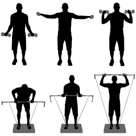 leg muscle: vector de fitness