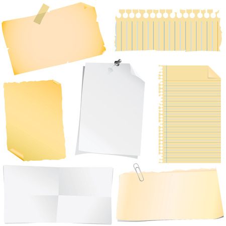 note papers  Stock Vector - 8498167