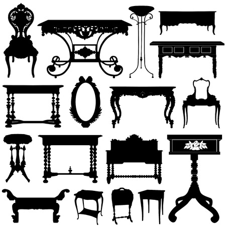 antique furniture: antique furniture  Illustration