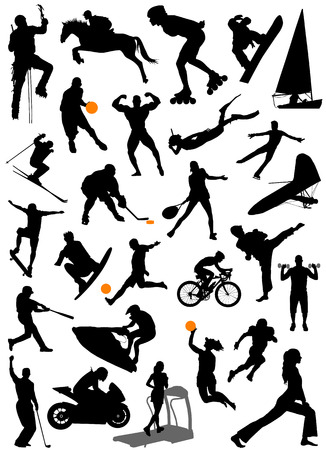 f1: collection of sports vector  Illustration