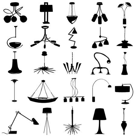 modern lighting vector