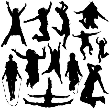 jumping people vector Stock Vector - 8516068