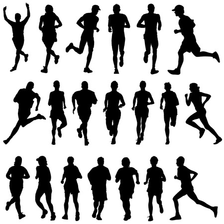 running people set Stock Vector - 8516072