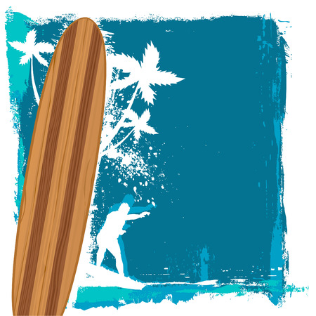 abstract surfing vector  Vector