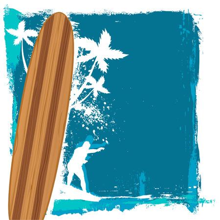 abstract surfing vector  Illustration