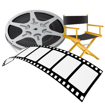 directors: movie reel vector