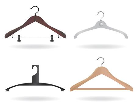 Satz von Hanger Vektor Vektorgrafik