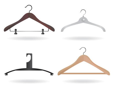 closets: set of hanger vector