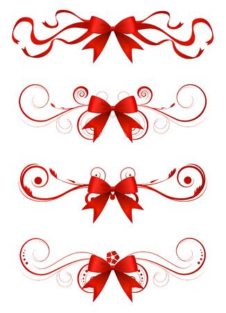 set of ribbon bow vector  Stock Vector - 8516053