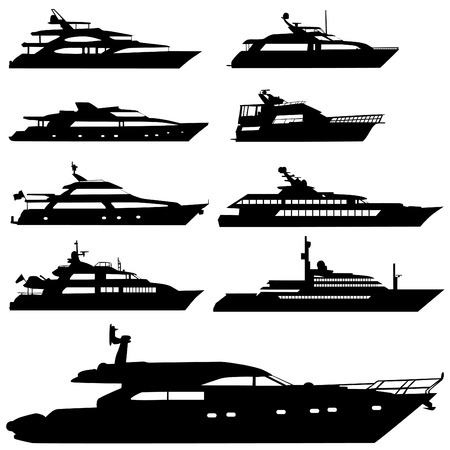 boat motor: motor yacht  Illustration