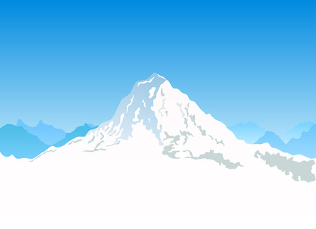 mountains and sky: mountain  Illustration