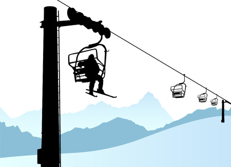 ski lift: ski lift