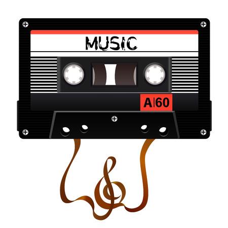 cassette tape: audio cassette Illustration