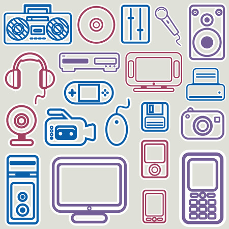 electronic icon set  Stock Vector - 8551575