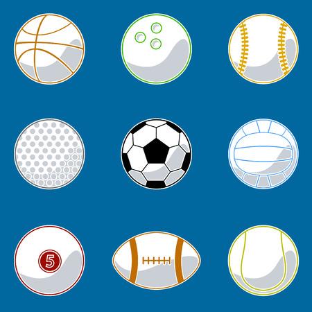 sport ball icon set Stock Vector - 8551573