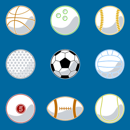 sport ball icon set  Vector
