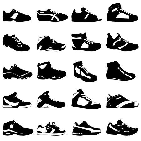 shoe sale: calzado de deporte de moda  Vectores