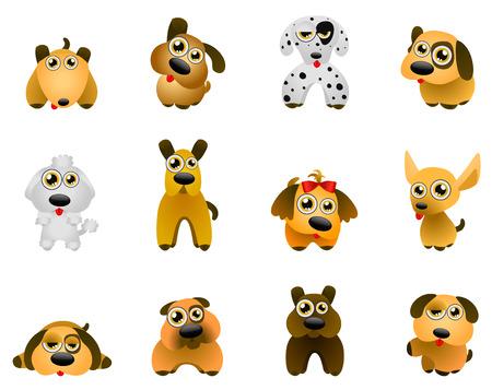 animation: dog - cartoon series Illustration