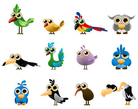 sparrows: bird - cartoon