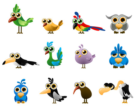 de aves - dibujos animados