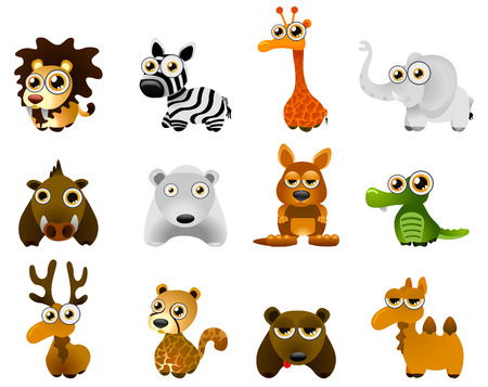 wild animal - cartoon  Vector