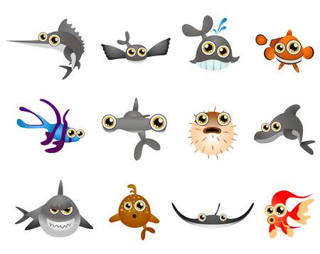 droll: fish - cartoon series Illustration
