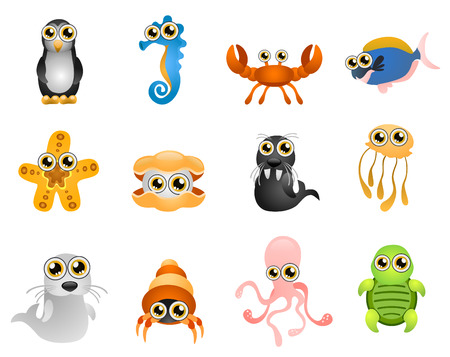 marine life - cartoon  Vector
